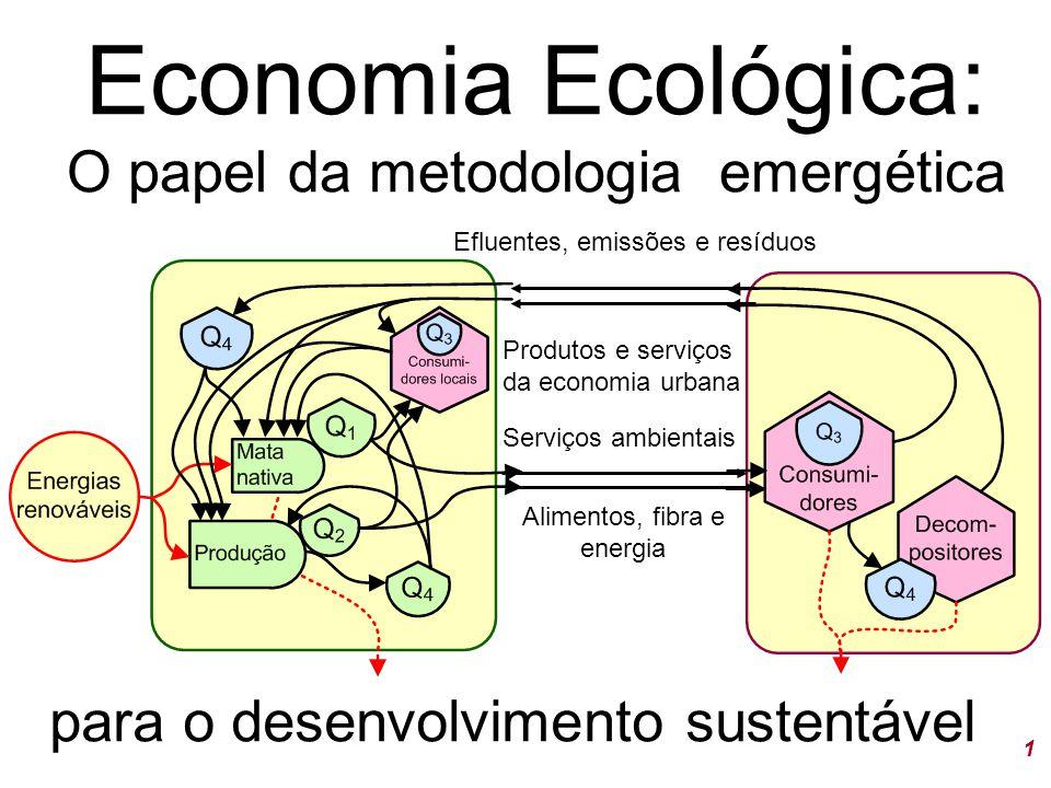 Economia Ecológica: O papel da metodologia emergética