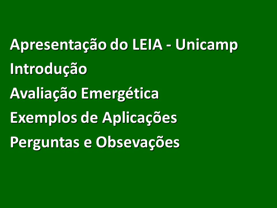 Apresentação do LEIA - Unicamp