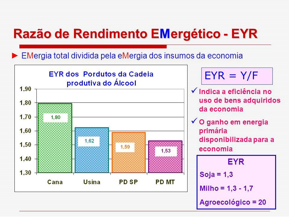 Razão de Rendimento EMergético - EYR