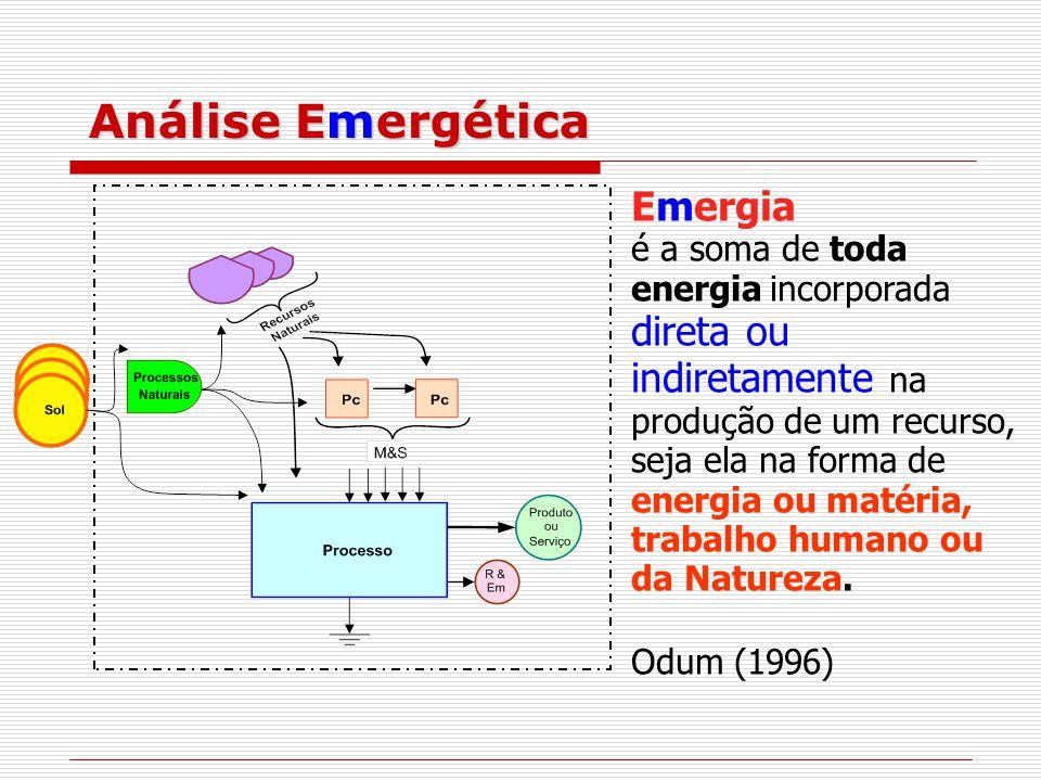 Análise Emergética Emergia