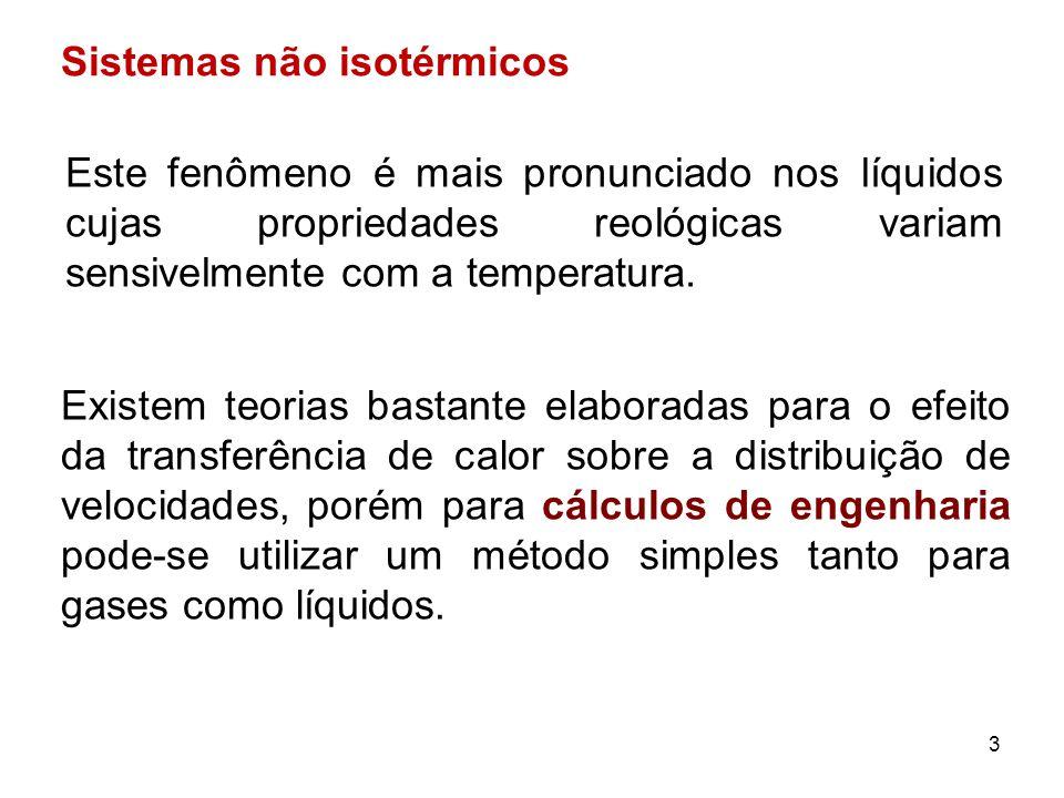 Sistemas não isotérmicos