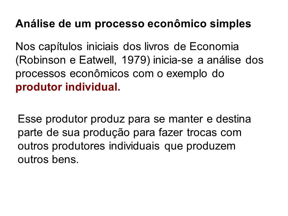 Análise de um processo econômico simples