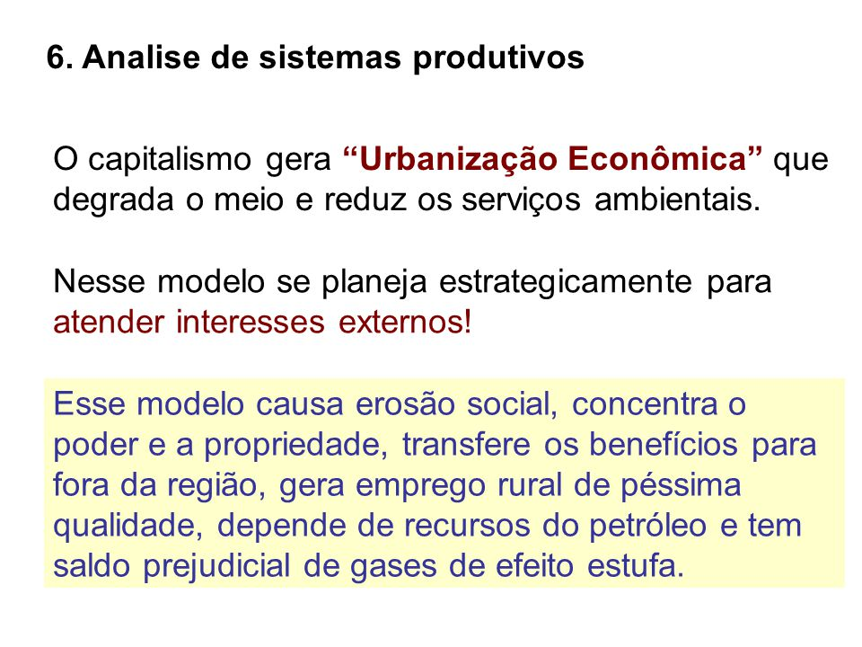 6. Analise de sistemas produtivos
