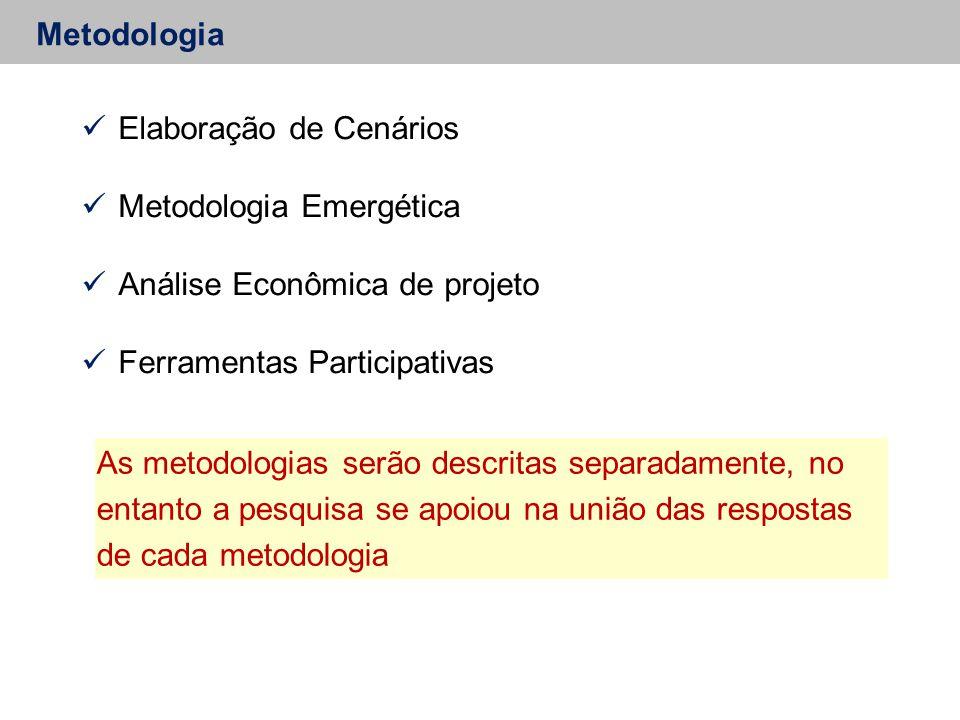 Elaboração de Cenários Metodologia Emergética