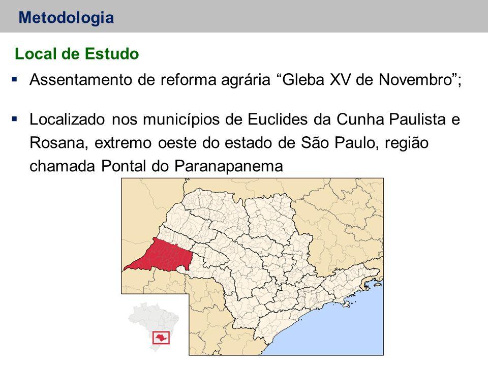 Assentamento de reforma agrária Gleba XV de Novembro ;