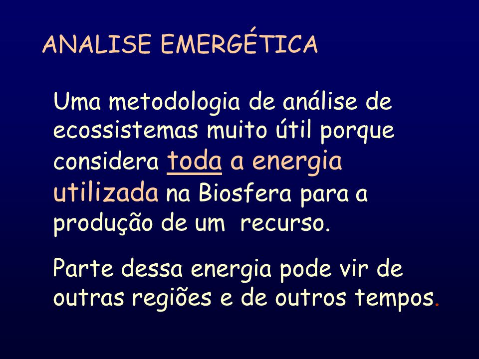 ANALISE EMERGÉTICA