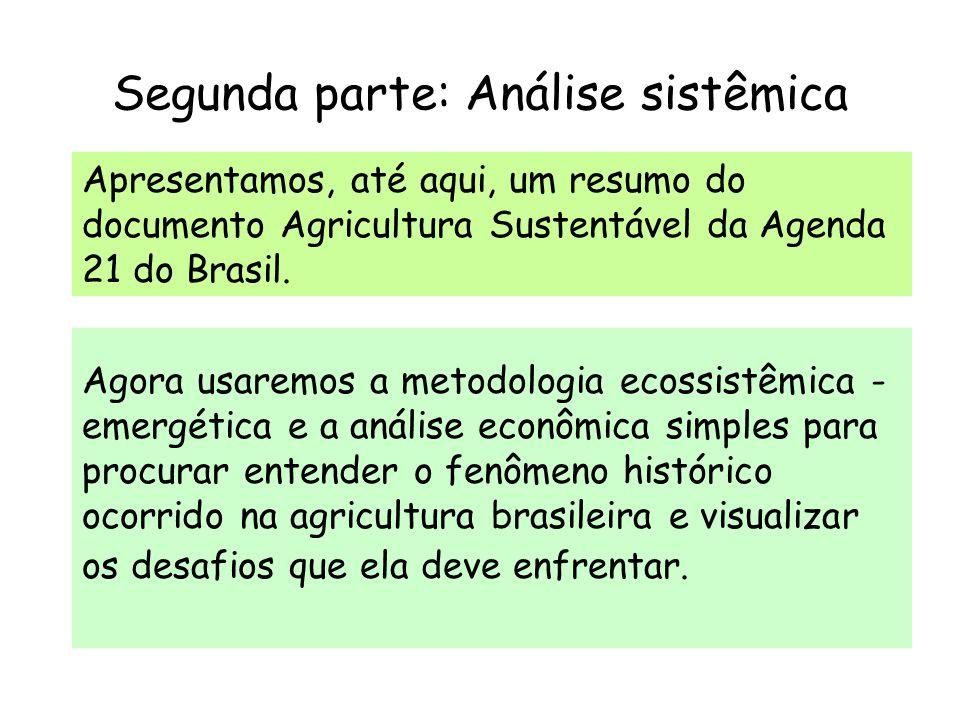 Segunda parte: Análise sistêmica