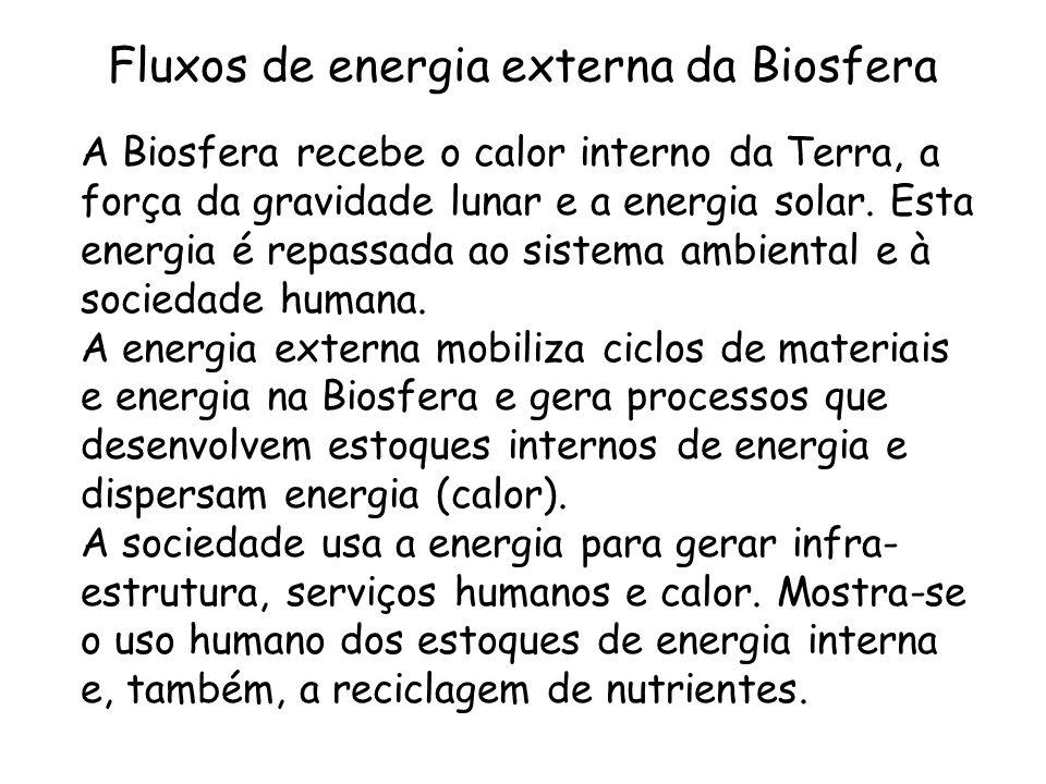 Fluxos de energia externa da Biosfera
