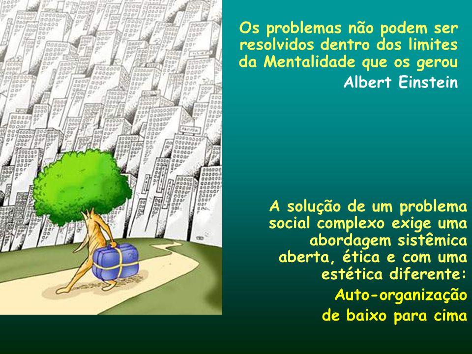 Os problemas não podem ser resolvidos dentro dos limites da Mentalidade que os gerou