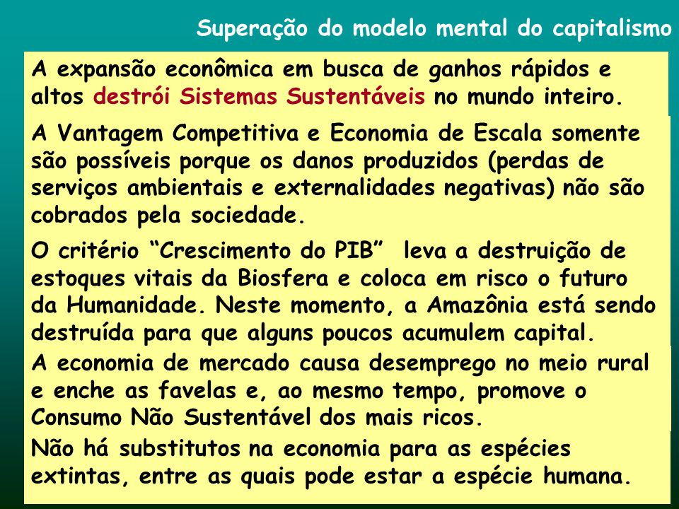 Superação do modelo mental do capitalismo