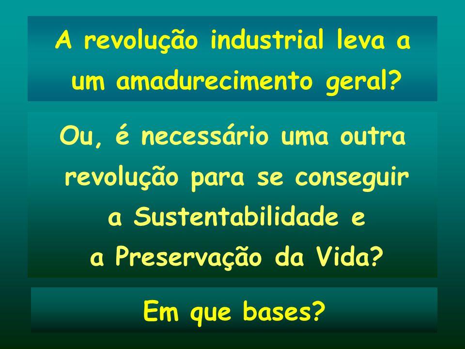 A revolução industrial leva a um amadurecimento geral
