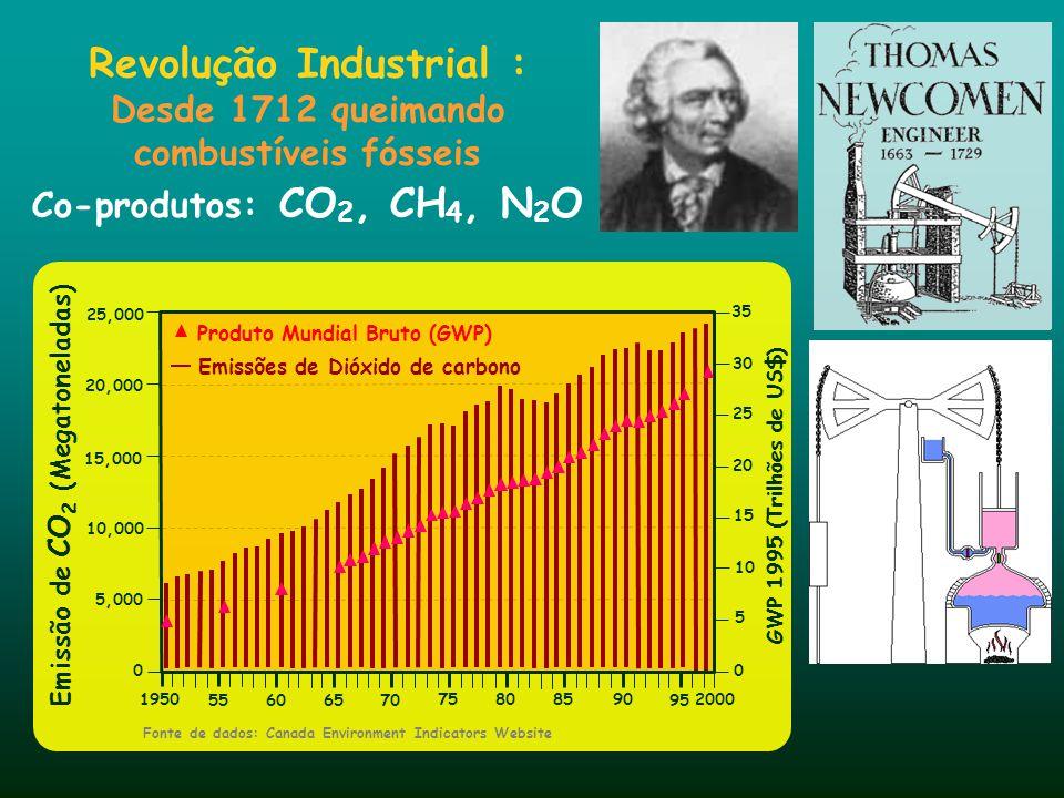 Revolução Industrial : Desde 1712 queimando combustíveis fósseis