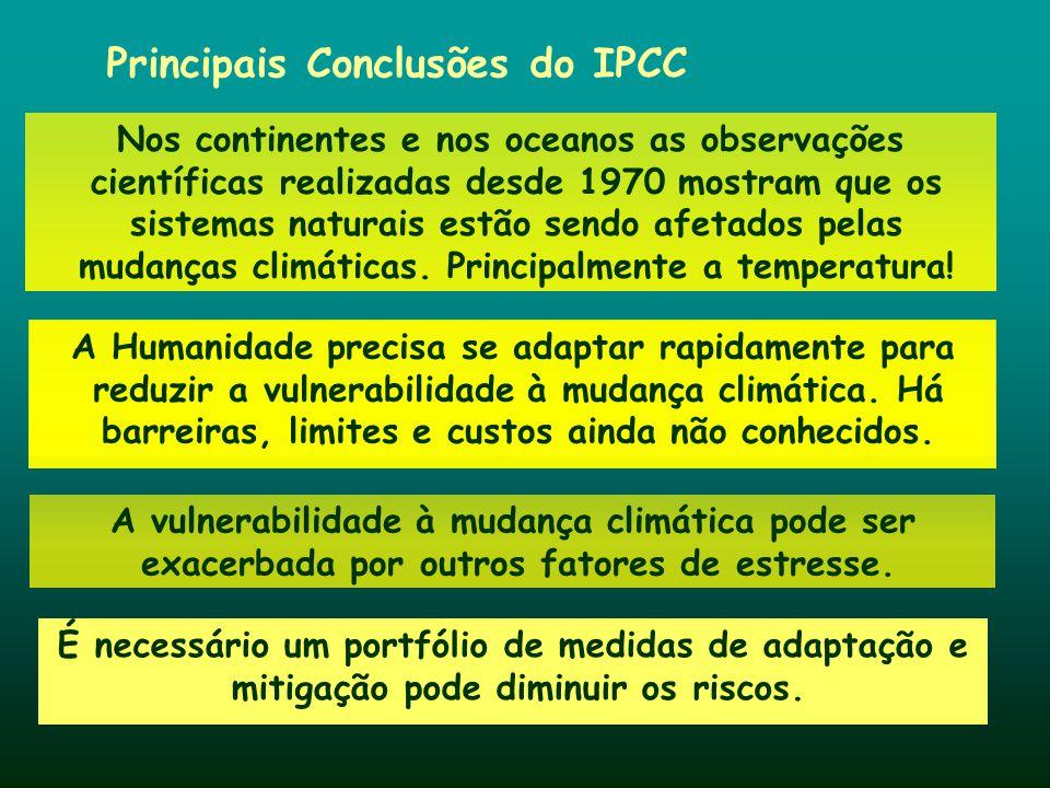 Principais Conclusões do IPCC