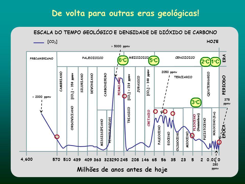 De volta para outras eras geológicas!