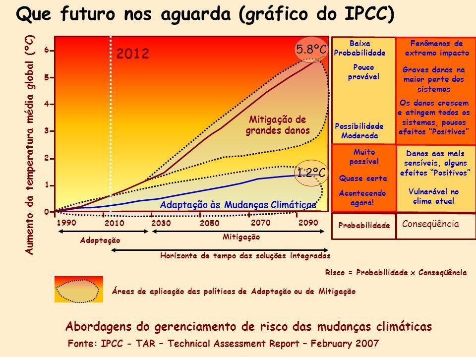 Que futuro nos aguarda (gráfico do IPCC)