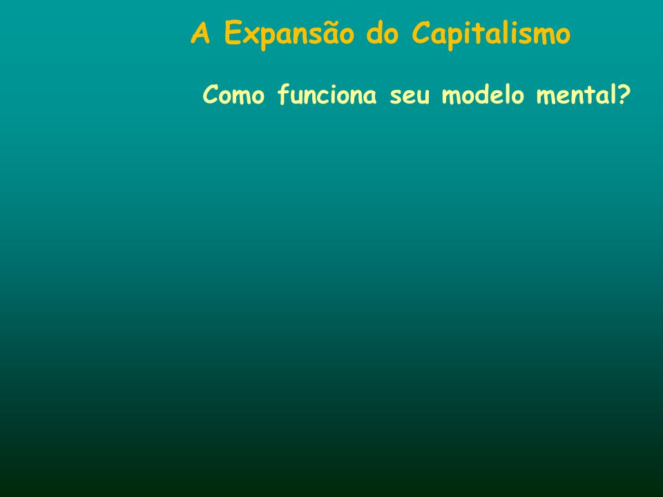 A Expansão do Capitalismo