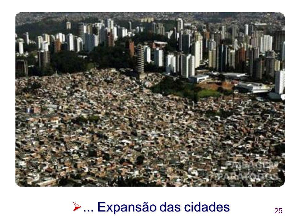 ... Expansão das cidades