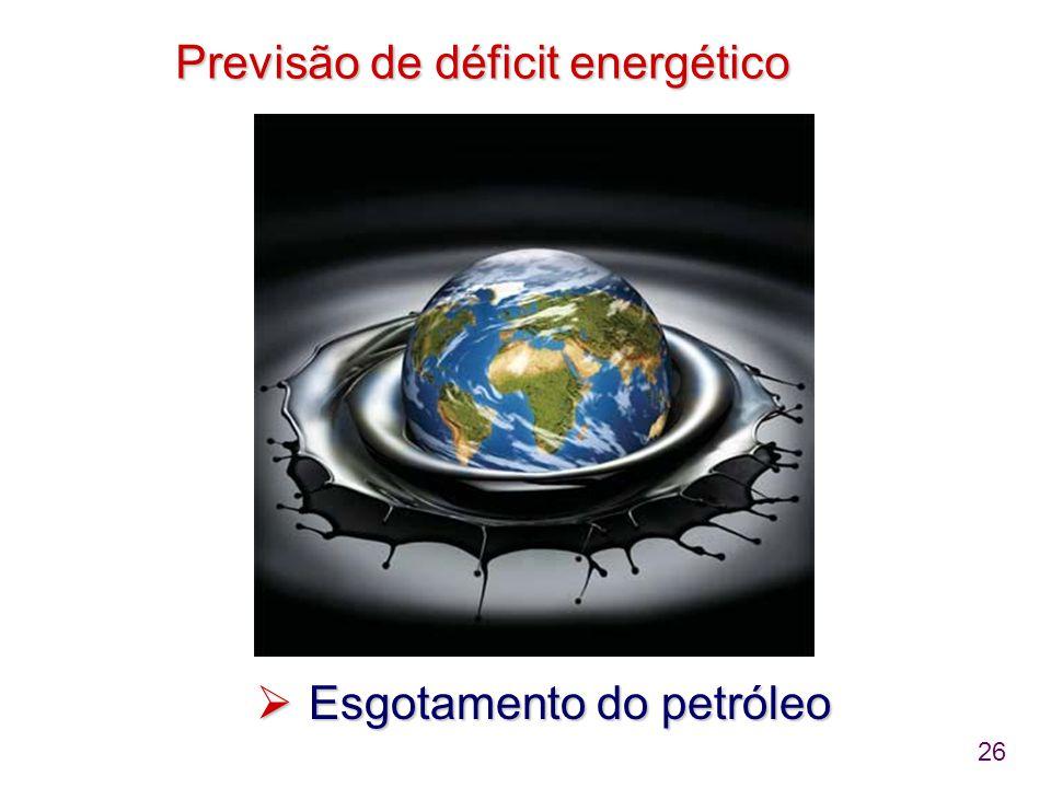 Previsão de déficit energético