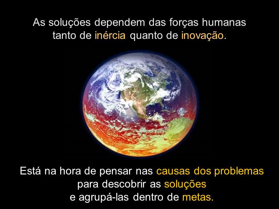 As soluções dependem das forças humanas tanto de inércia quanto de inovação.