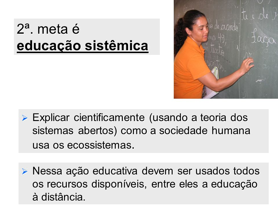 2ª. meta é educação sistêmica