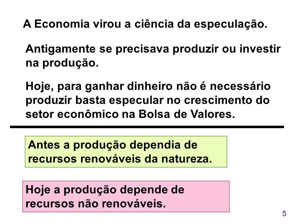 A Economia virou a ciência da especulação.