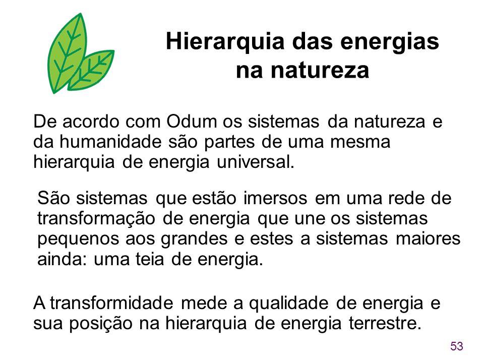 Hierarquia das energias na natureza
