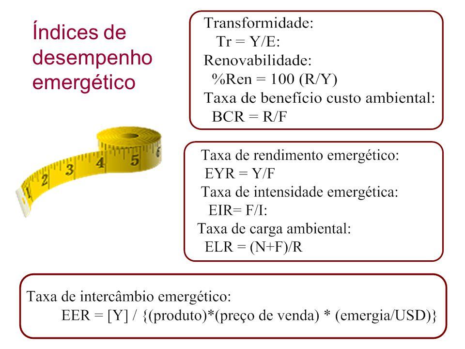 Índices de desempenho emergético