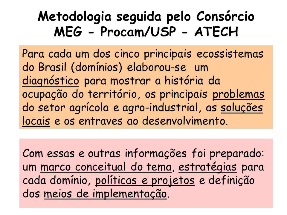Metodologia seguida pelo Consórcio MEG - Procam/USP - ATECH