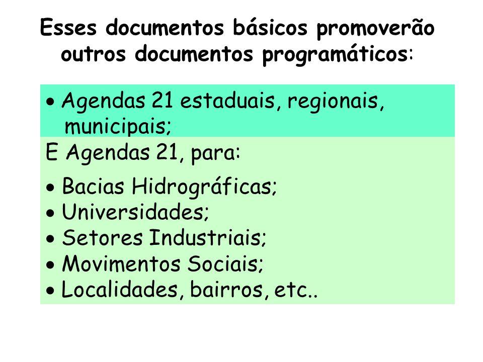 Esses documentos básicos promoverão outros documentos programáticos: