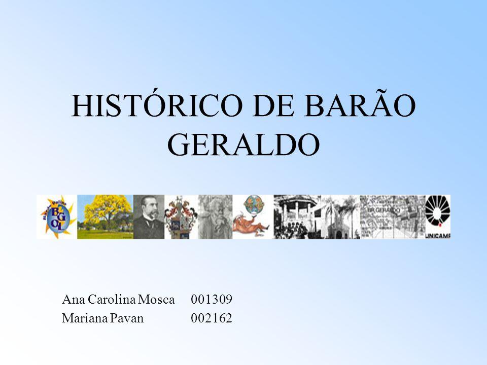 HISTÓRICO DE BARÃO GERALDO