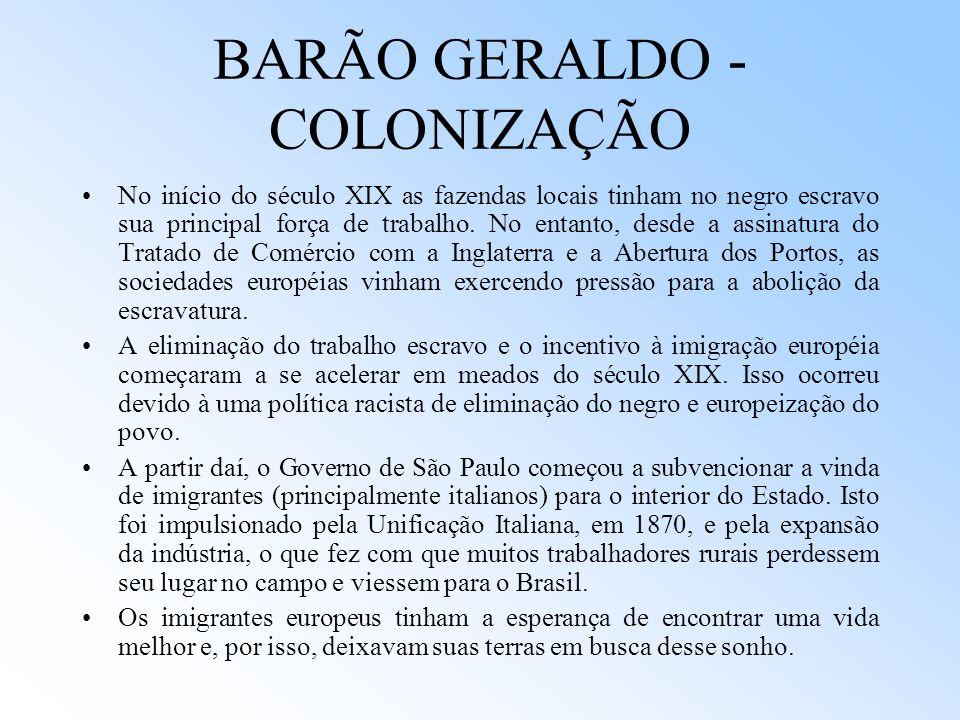 BARÃO GERALDO - COLONIZAÇÃO