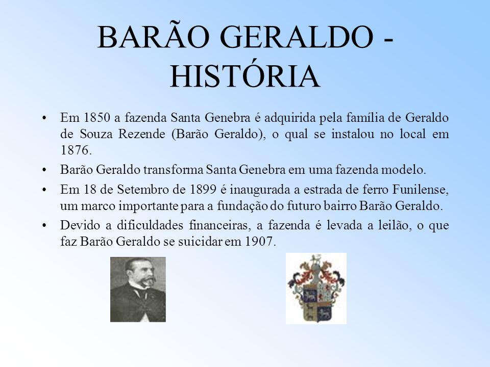BARÃO GERALDO - HISTÓRIA