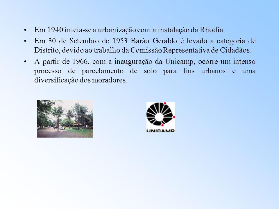 Em 1940 inicia-se a urbanização com a instalação da Rhodia.