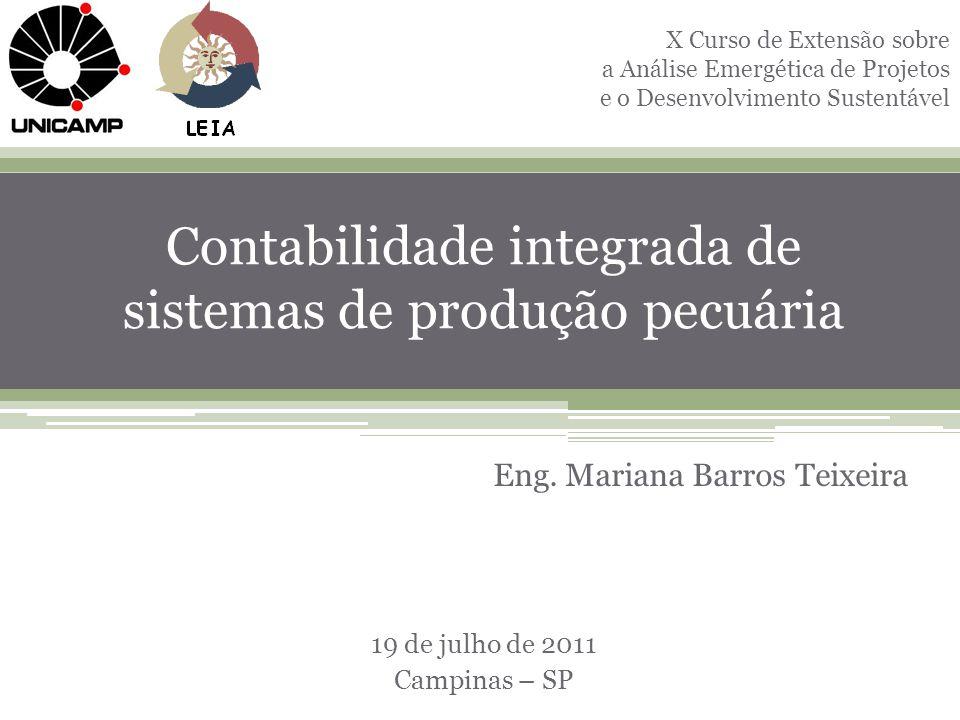 Contabilidade integrada de sistemas de produção pecuária