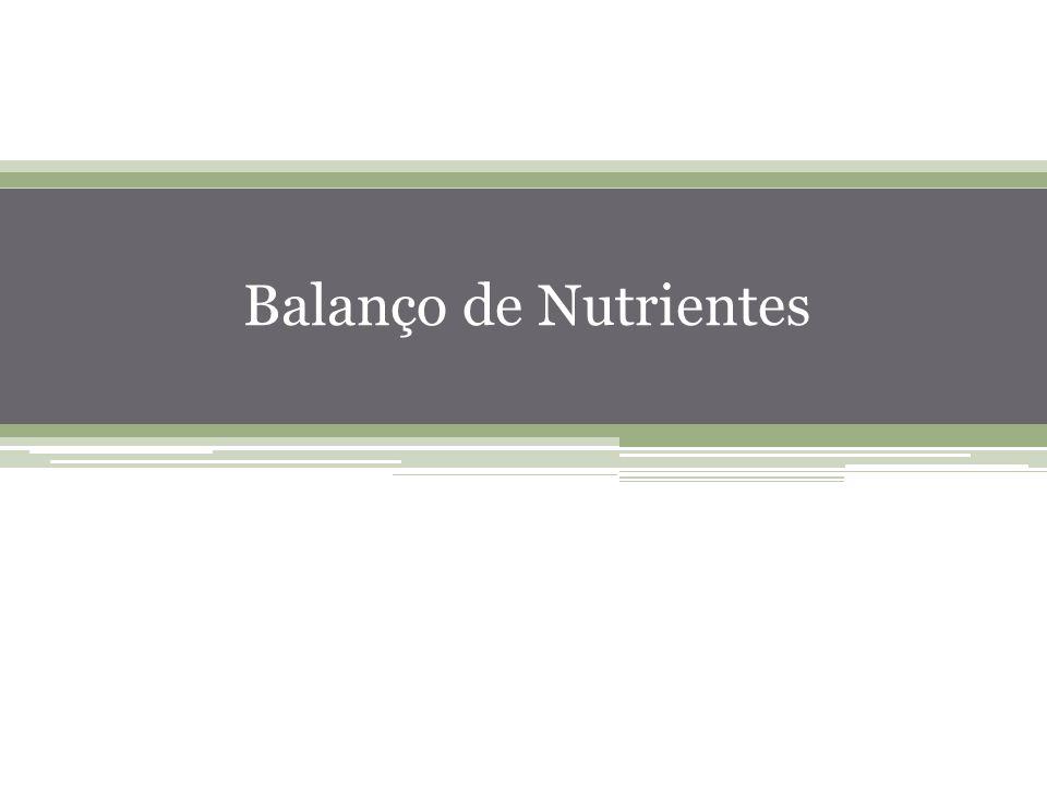 Balanço de Nutrientes