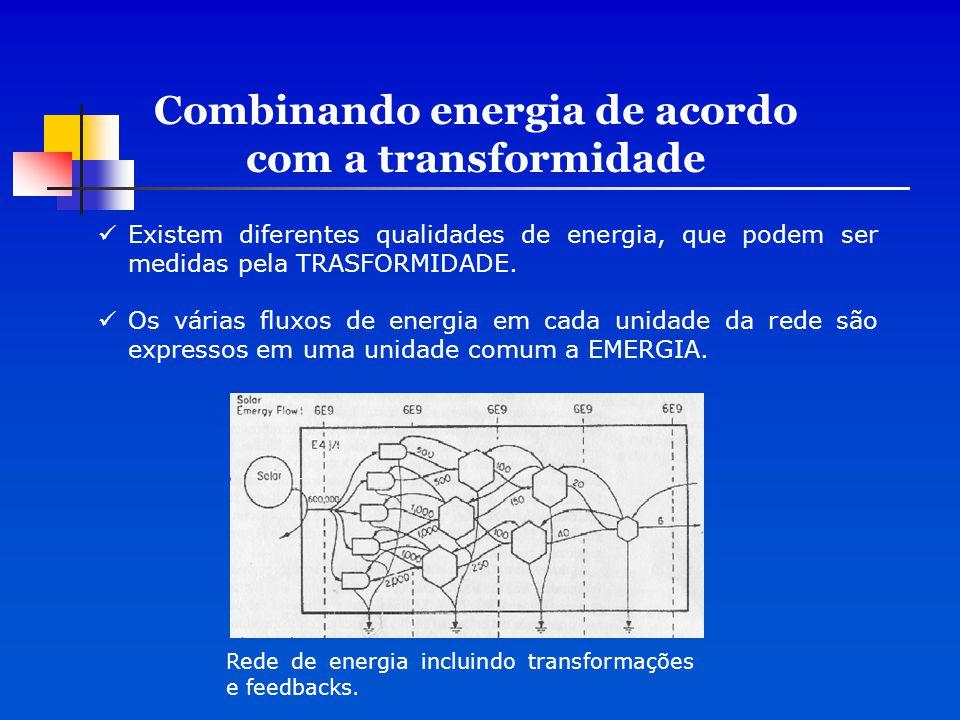 Combinando energia de acordo com a transformidade