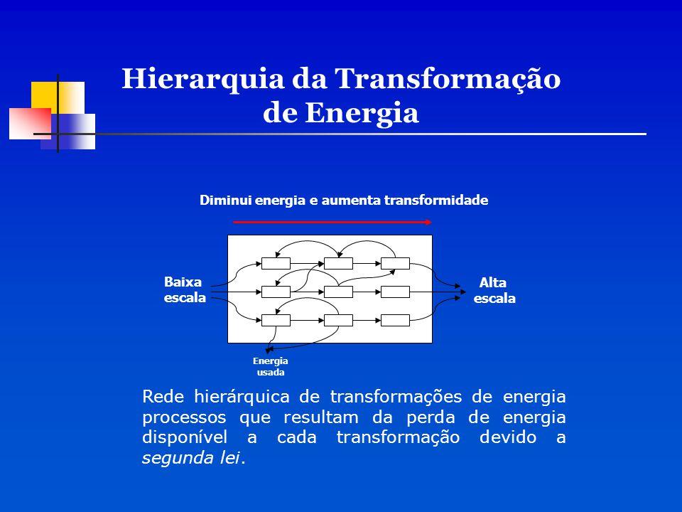 Hierarquia da Transformação de Energia