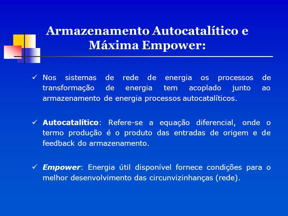 Armazenamento Autocatalítico e Máxima Empower: