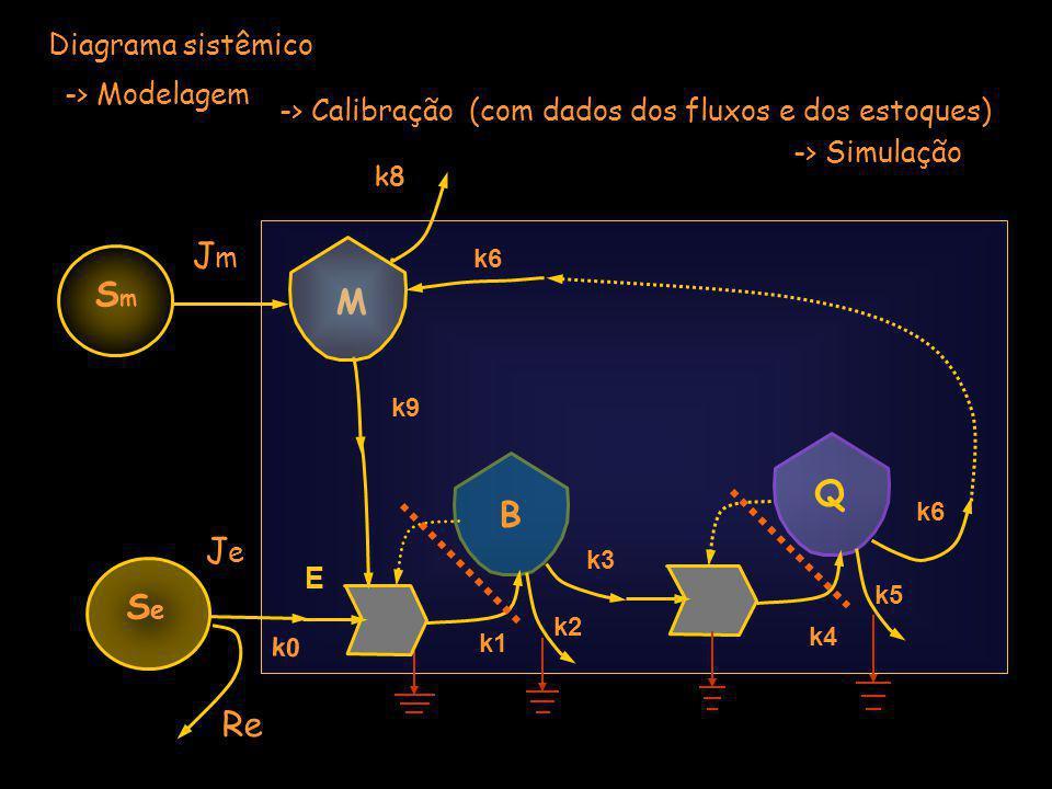 Jm Sm M Q B Je Se Re Diagrama sistêmico -> Modelagem