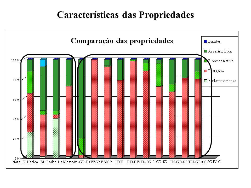 Características das Propriedades