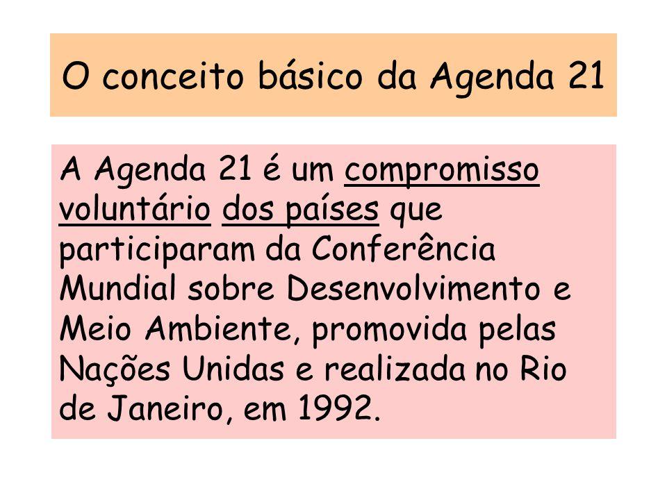 O conceito básico da Agenda 21