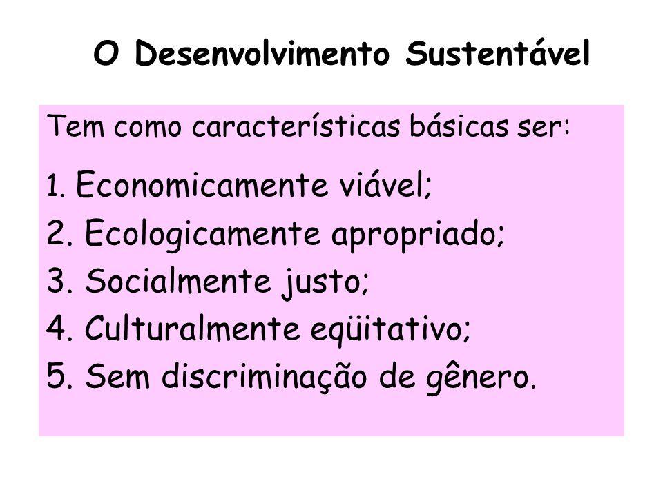 O Desenvolvimento Sustentável