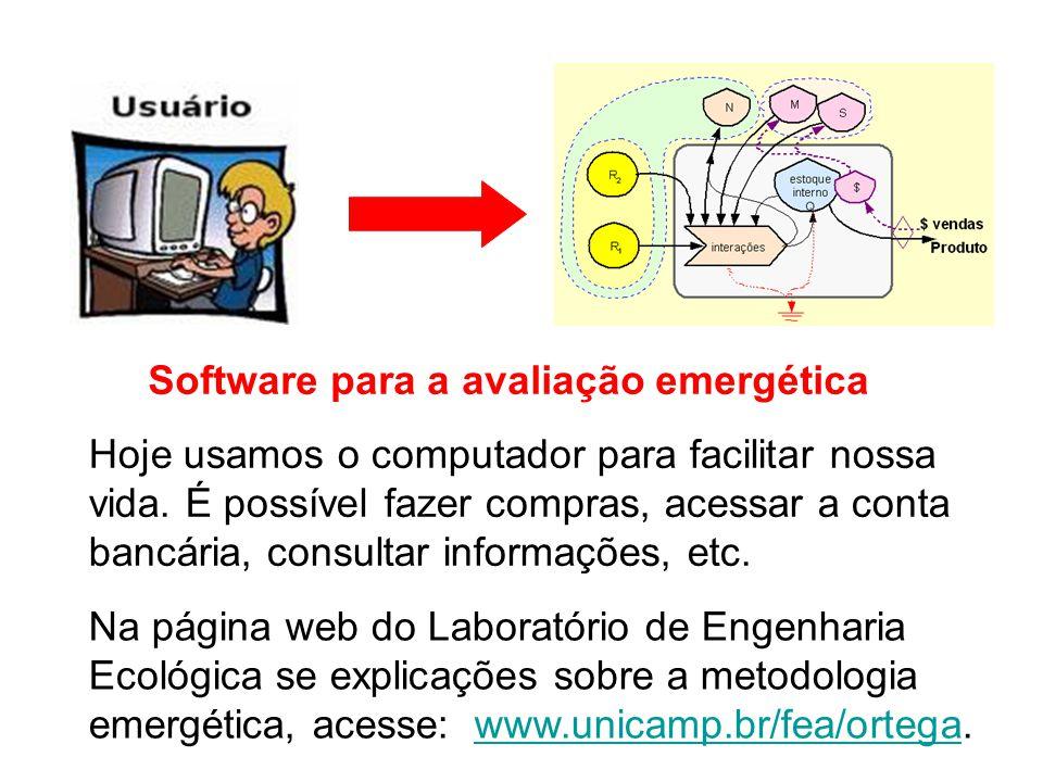 Software para a avaliação emergética