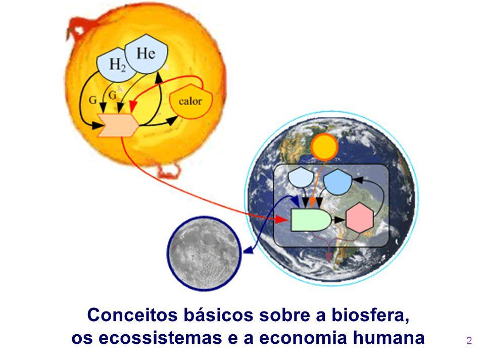 Conceitos básicos sobre a biosfera, os ecossistemas e a economia humana