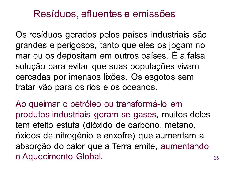 Resíduos, efluentes e emissões