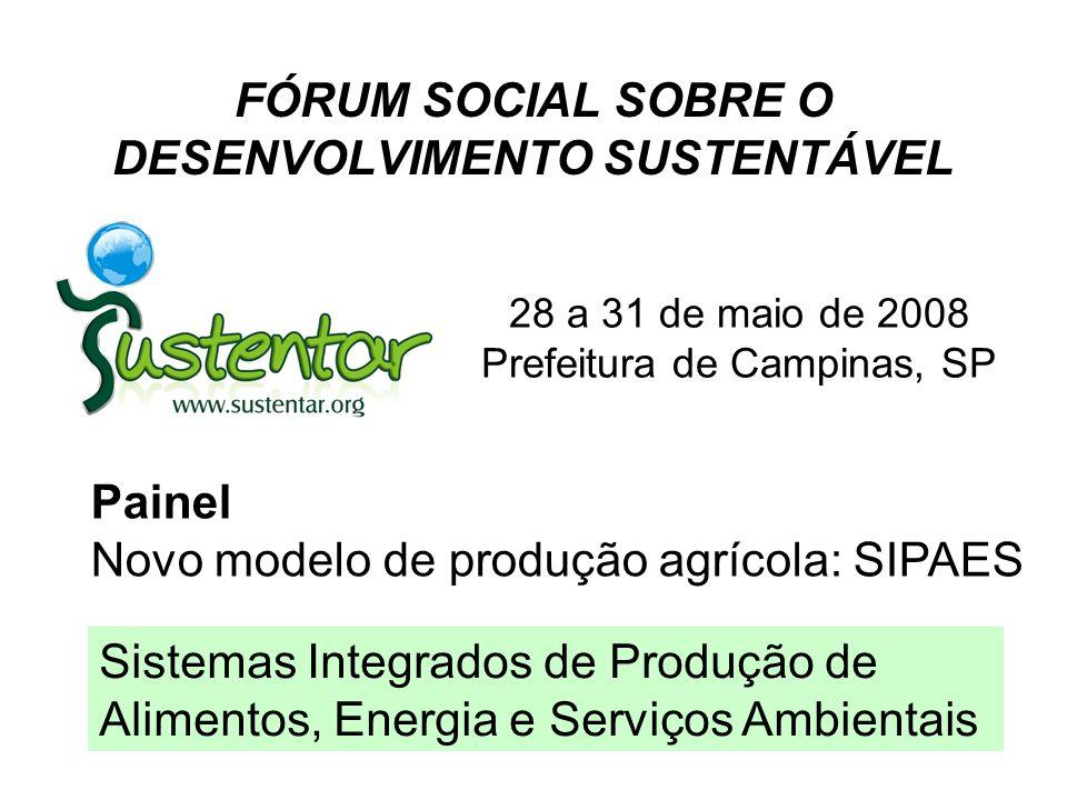 FÓRUM SOCIAL SOBRE O DESENVOLVIMENTO SUSTENTÁVEL