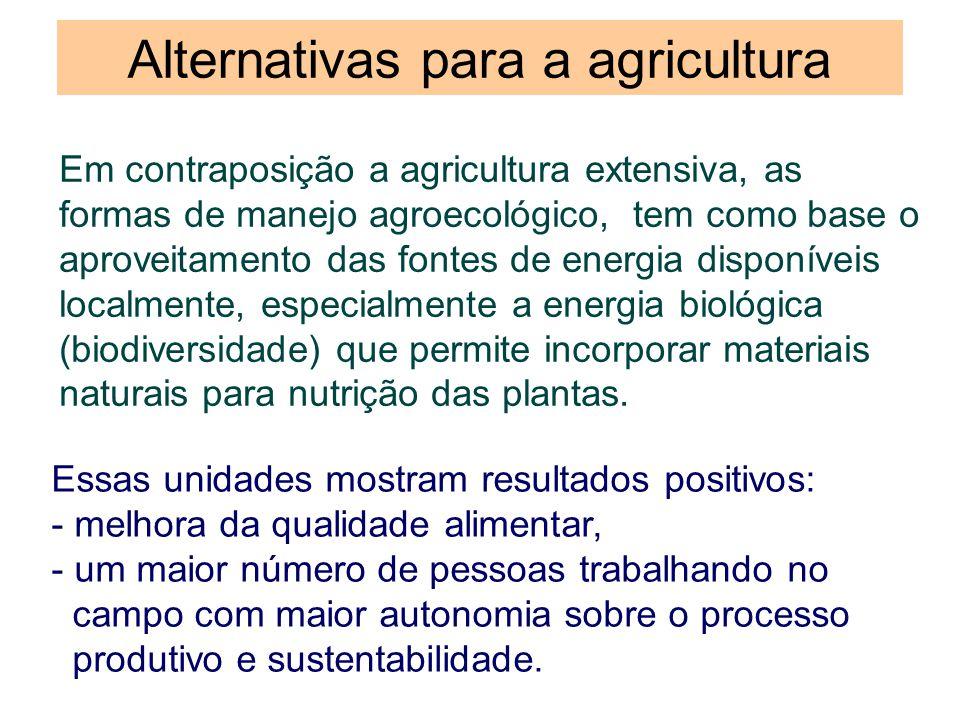 Alternativas para a agricultura