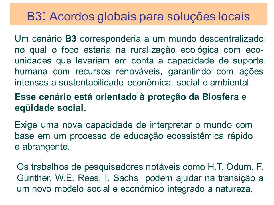 B3: Acordos globais para soluções locais