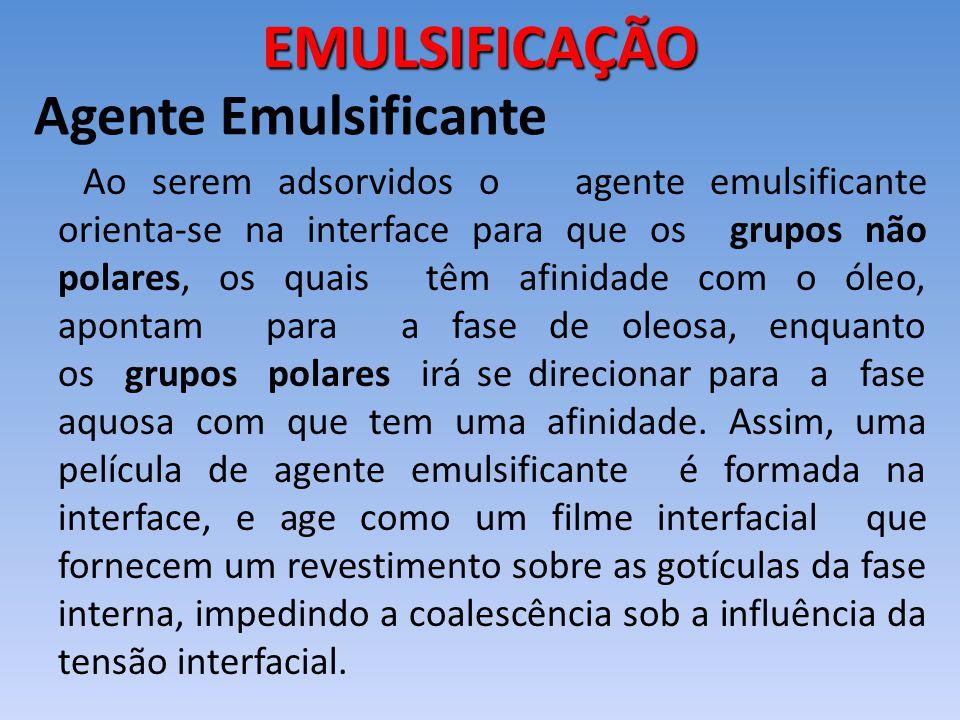 EMULSIFICAÇÃO Agente Emulsificante