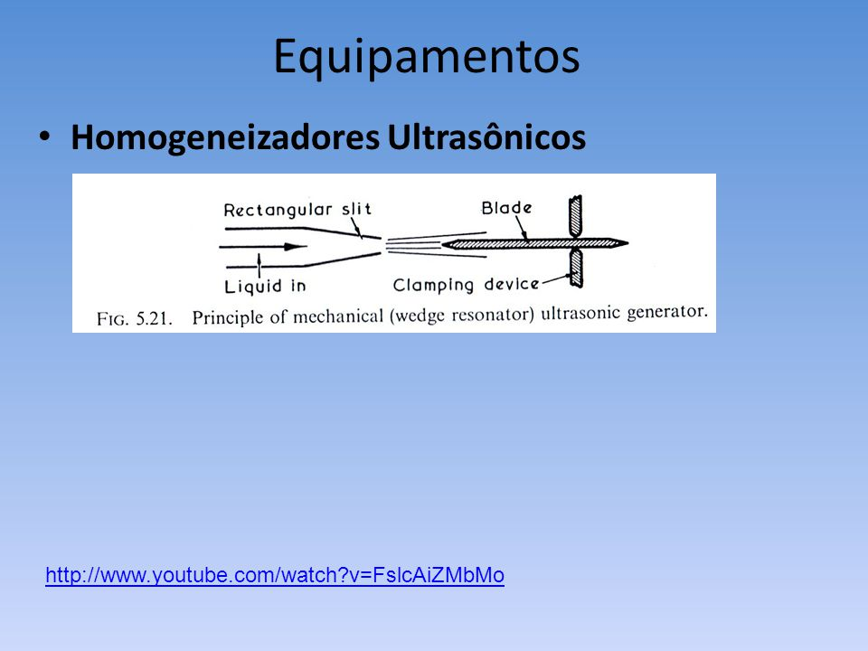 Equipamentos Homogeneizadores Ultrasônicos